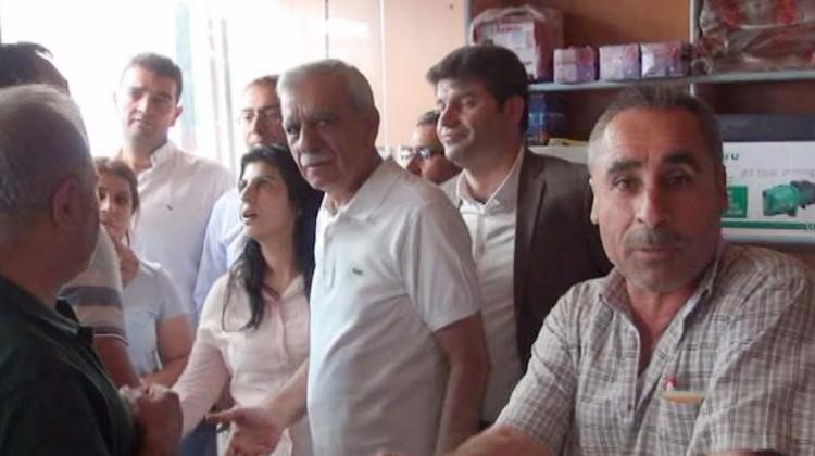 Mardin Nusaybin'de Ahmet Türk'e büyük tepki